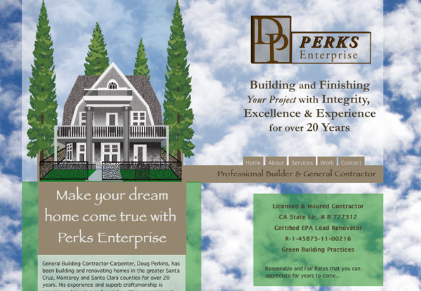 Image of website design, Building Contractor, Doug Perkins, Let your Dream Home Come True .